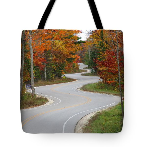 The Curvy Road Tote Bag