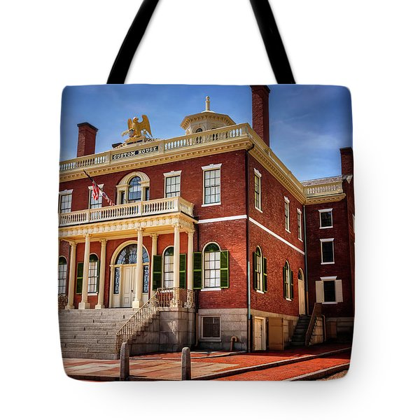 Tote Bag featuring the photograph The Custom House Salem Massachusetts  by Carol Japp