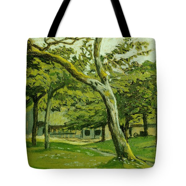 The Customs Hut In The Morning Tote Bag by Claude Monet