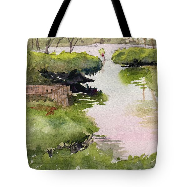Tote Bag featuring the painting The Cut by Kris Parins