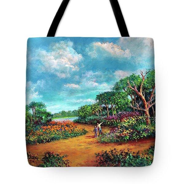 Tote Bag featuring the painting The Cycle Of Life by Randol Burns