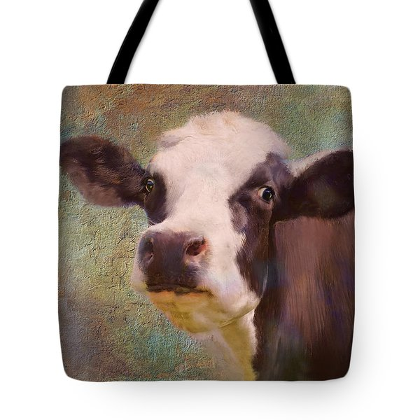 Tote Bag featuring the mixed media The Dairy Queen by Colleen Taylor