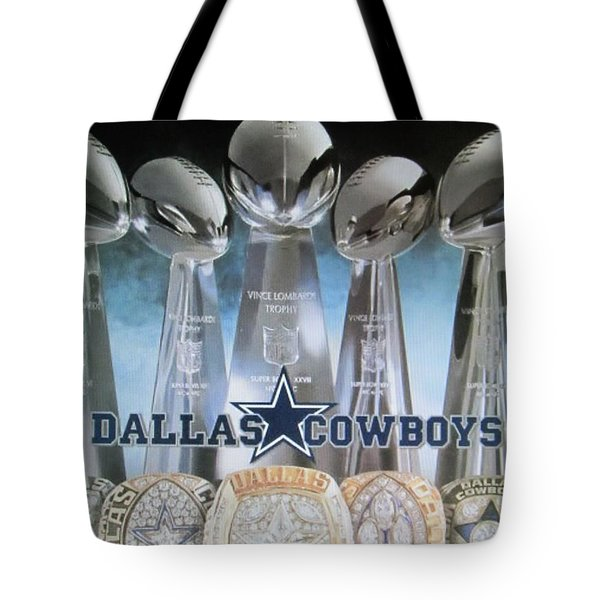 The Dallas Cowboys Championship Hardware Tote Bag