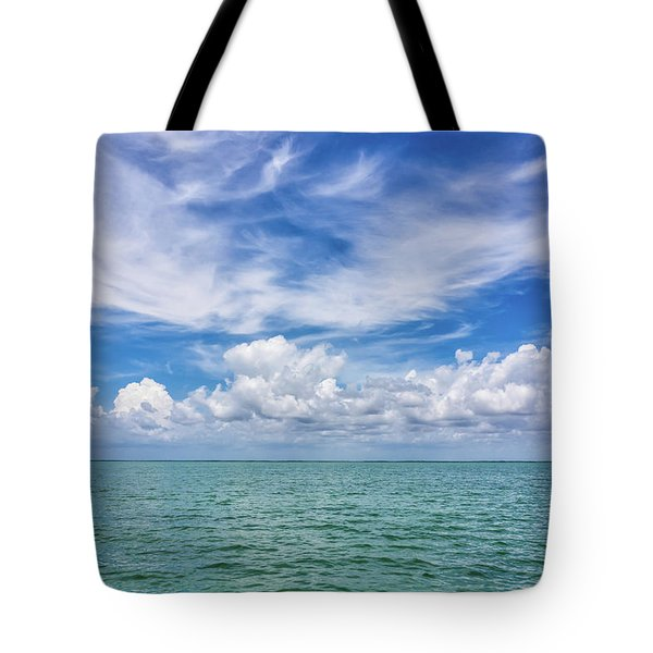 The Dance Of Clouds On The Sea Tote Bag