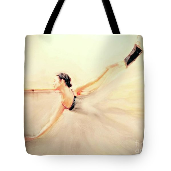 Tote Bag featuring the painting The Dance Of Life by FeatherStone Studio Julie A Miller