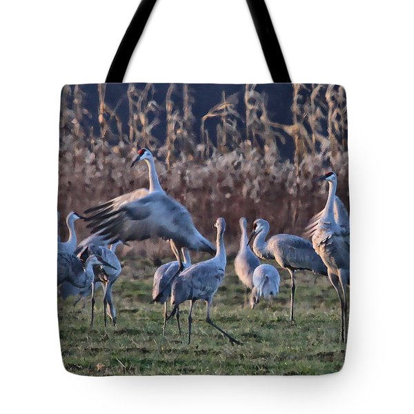 Tote Bag featuring the photograph The Dance by Shari Jardina