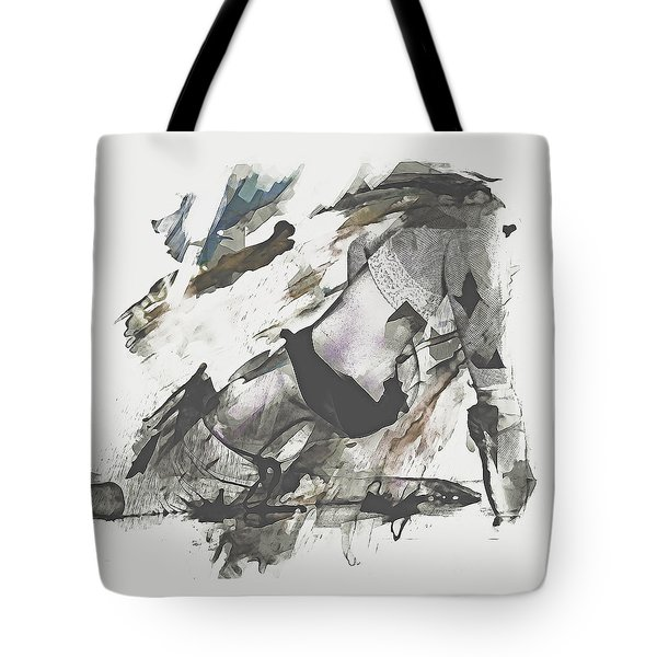 Tote Bag featuring the digital art The Dancer by Galen Valle
