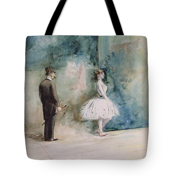 The Dancer Tote Bag by Jean Louis Forain