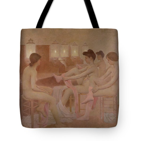 The Dancers Tote Bag by Fernand Pelez