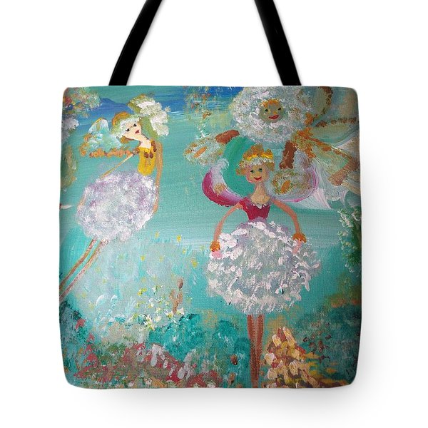 The Dandelion Fairies Tote Bag by Judith Desrosiers