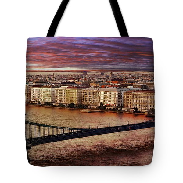 The Danube River In Budapest Tote Bag