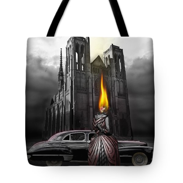 The Dark Angel Tote Bag by Larry Butterworth