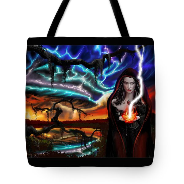 The Dark Caster Calls The Storm Tote Bag by James Christopher Hill