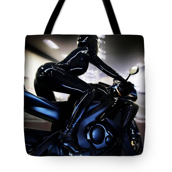 The Dark Knight Tote Bag by Lawrence Christopher