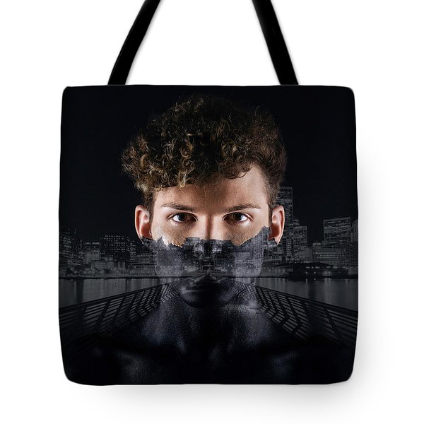 The Dark Side Of A City Boy Tote Bag