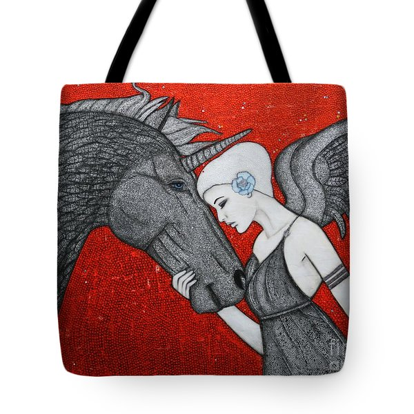 The Dark Unicorn Tote Bag by Natalie Briney