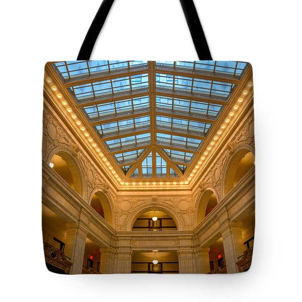 The David Whitney Building Tote Bag