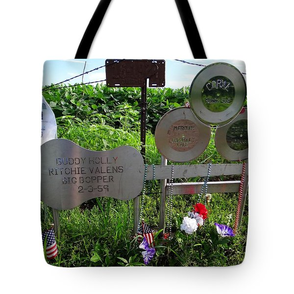 The Day The Music Died Tote Bag