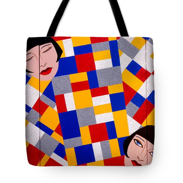 The De Stijl Dolls Tote Bag by Tara Hutton