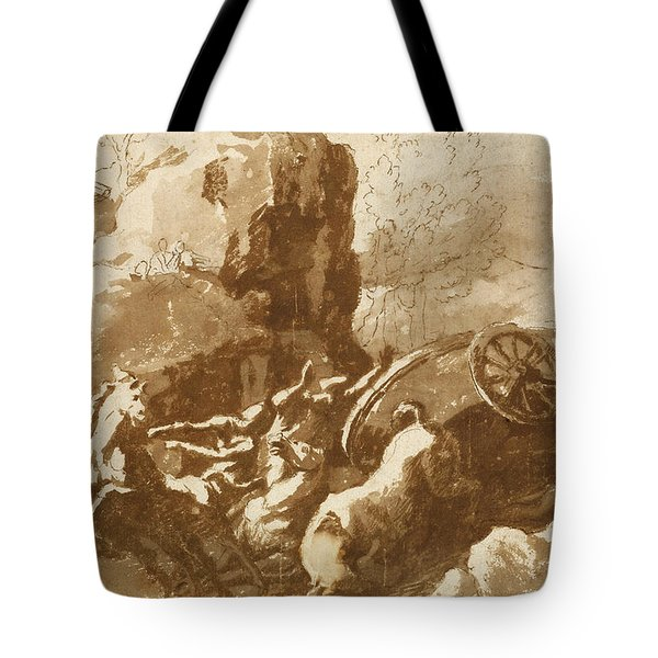 The Death Of Hippolytus Tote Bag