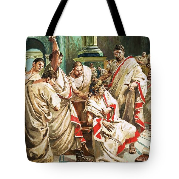 The Death Of Julius Caesar  Tote Bag by C L Doughty