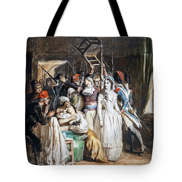 The Death Of Marat Tote Bag