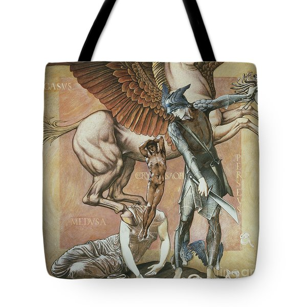 The Death Of Medusa I Tote Bag by Edward Coley Burne-Jones