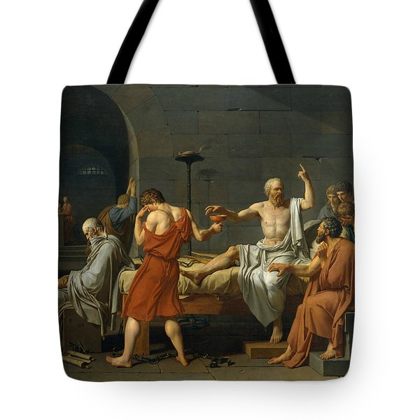 The Death Of Socrates, 1787 Tote Bag