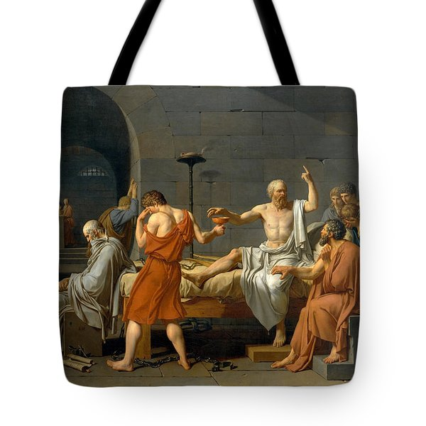 The Death Of Socrates - Jacques-louis David  Tote Bag