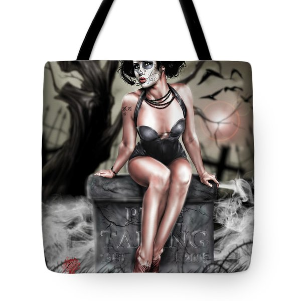 Tote Bag featuring the painting The Deaths Of Pete Tapang by Pete Tapang