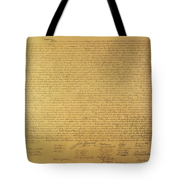 The Declaration Of Independence Tote Bag by Founding Fathers
