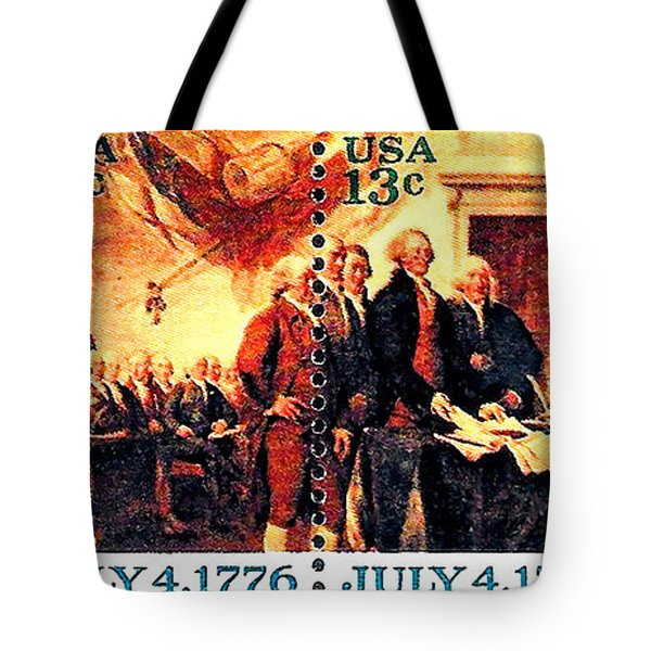 The Declaration Of Independence  Tote Bag by Lanjee Chee