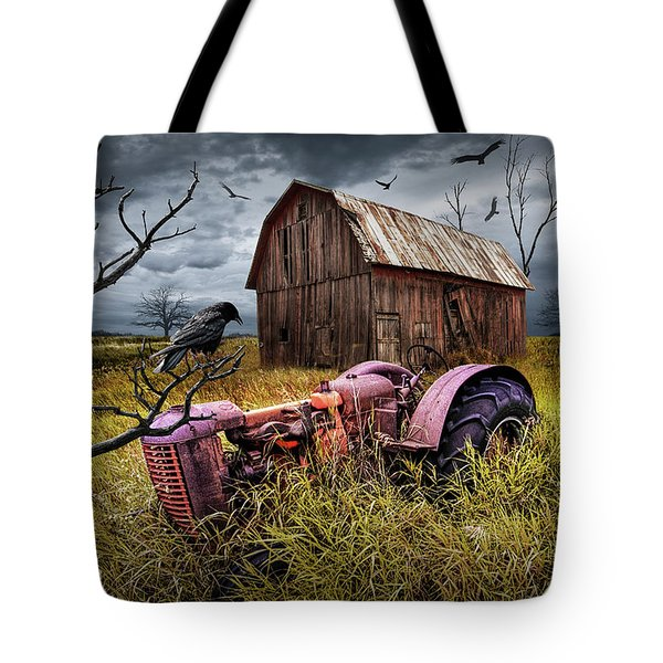 Tote Bag featuring the photograph The Decline And Death Of The Small Farm by Randall Nyhof