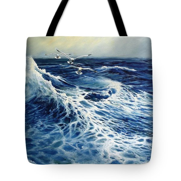 The Deep Blue Sea Tote Bag by Eileen Patten Oliver