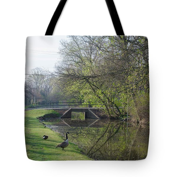 The Delaware Canal - Morrisville Pennsylvania Tote Bag by Bill Cannon