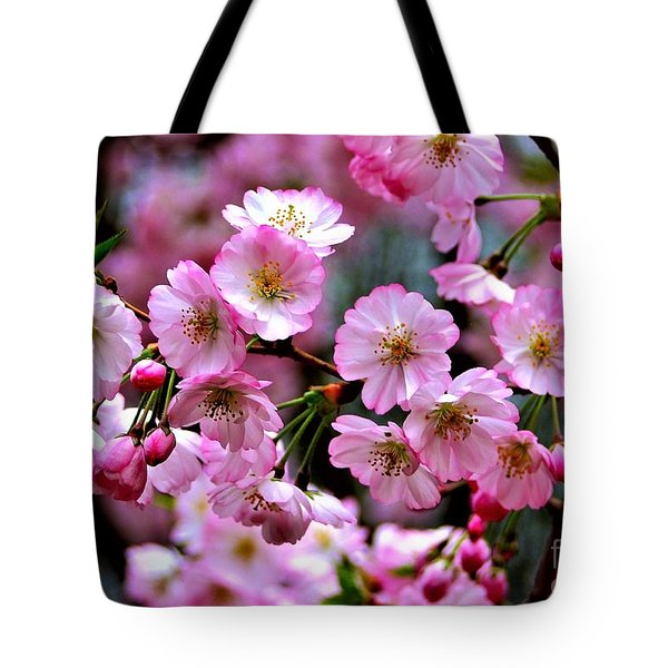 The Delicate Cherry Blossoms Tote Bag