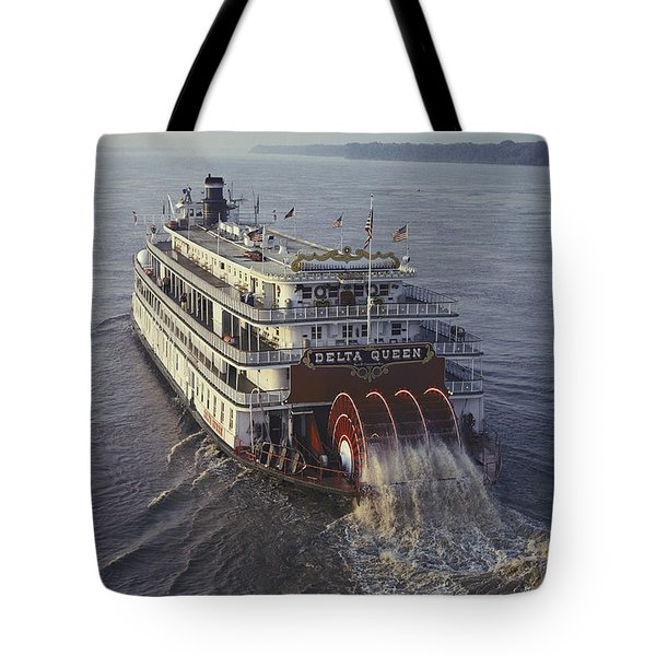 The Delta Queen, A Steamboat, Makes Tote Bag