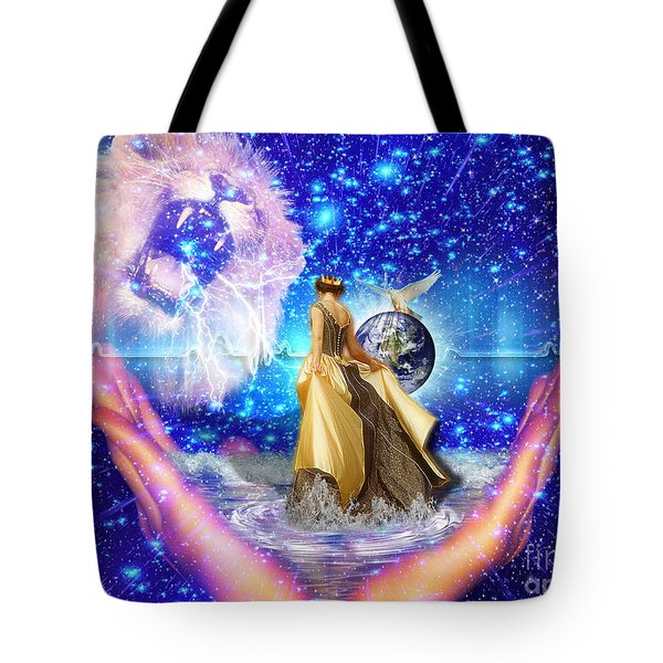 Tote Bag featuring the digital art The Depth Of Gods Love by Dolores Develde