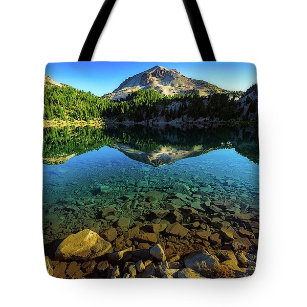 Tote Bag featuring the photograph The Depths Of Lake Helen by John Hight