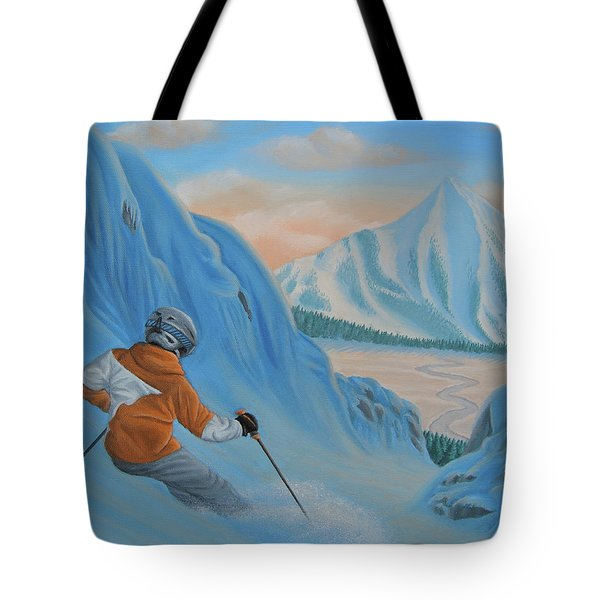 The Descent Beyond Tote Bag