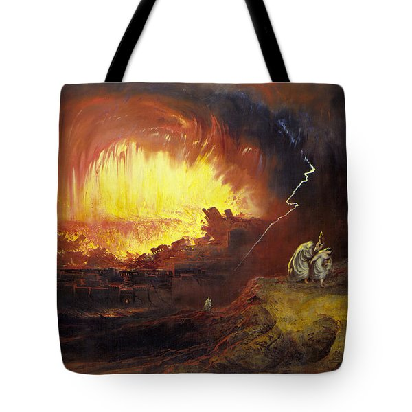 The Destruction Of Sodom And Gomorrah, 1852, By John Martin Tote Bag