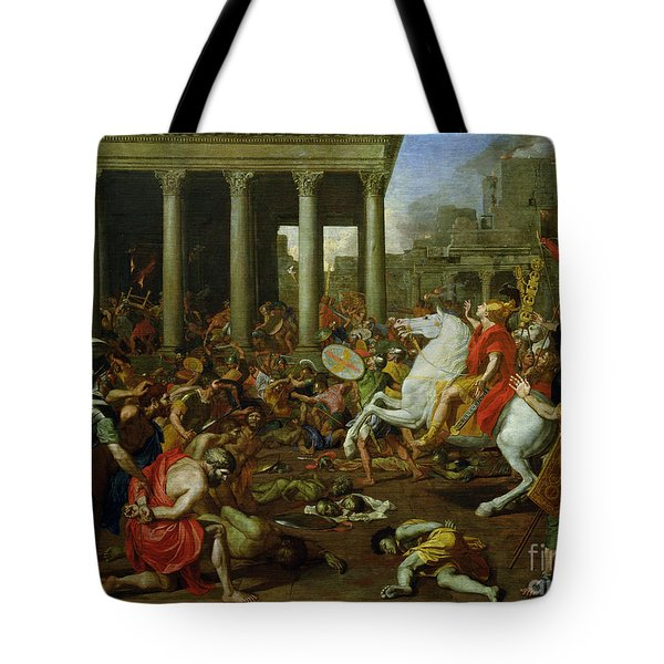The Destruction Of The Temples In Jerusalem By Titus Tote Bag by Nicolas Poussin