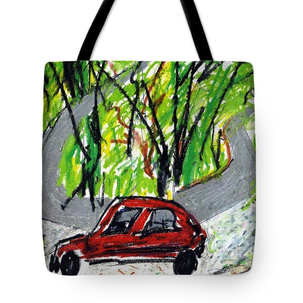 The Devil Is A Road To The Car Tote Bag by Patrick Morgan