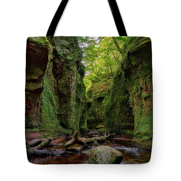 The Devil Pulpit At Finnich Glen Tote Bag by Jeremy Lavender Photography