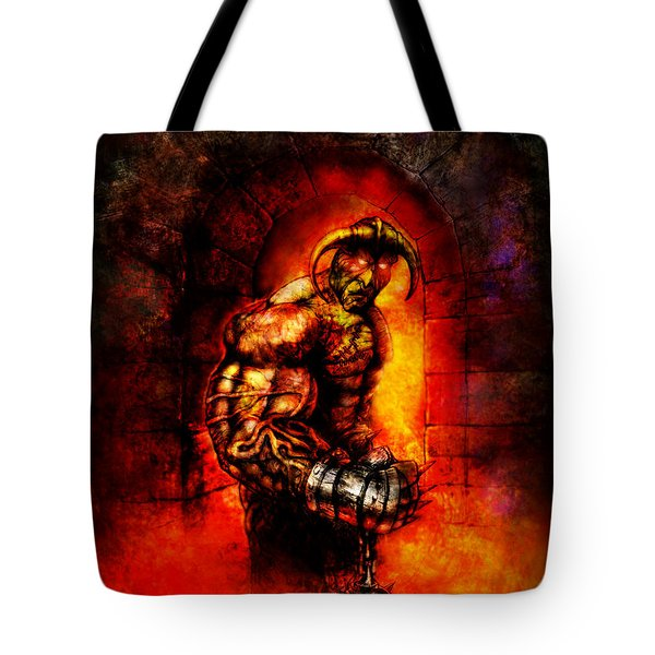 The Devil's Henchman Tote Bag by Kim Gauge