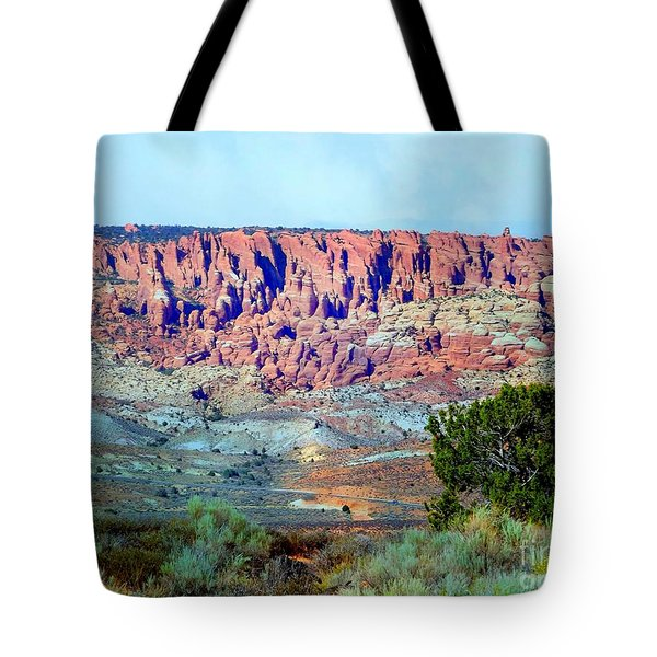 The Devil's Post Holes Tote Bag by Annie Gibbons