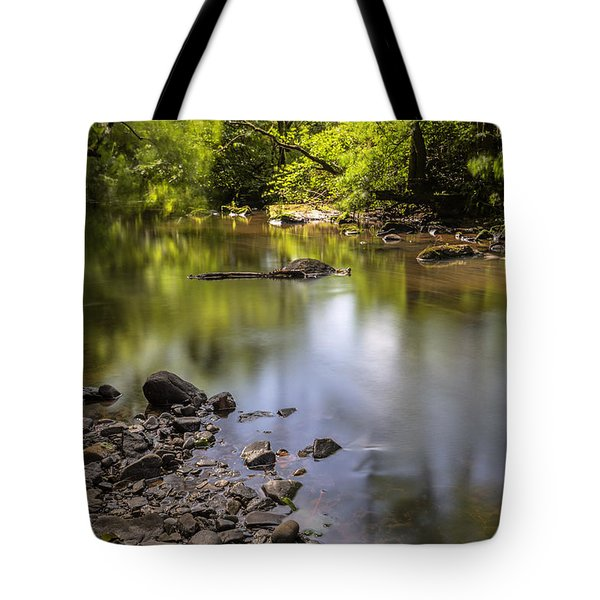 Tote Bag featuring the photograph The Devon River by Jeremy Lavender Photography