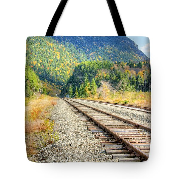 Tote Bag featuring the photograph The Disappearing Railroad by David Birchall