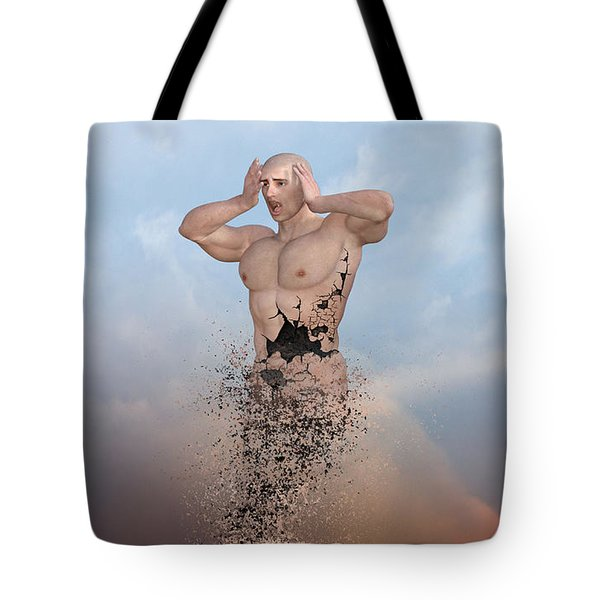 The Disintegration Of Human Values Tote Bag