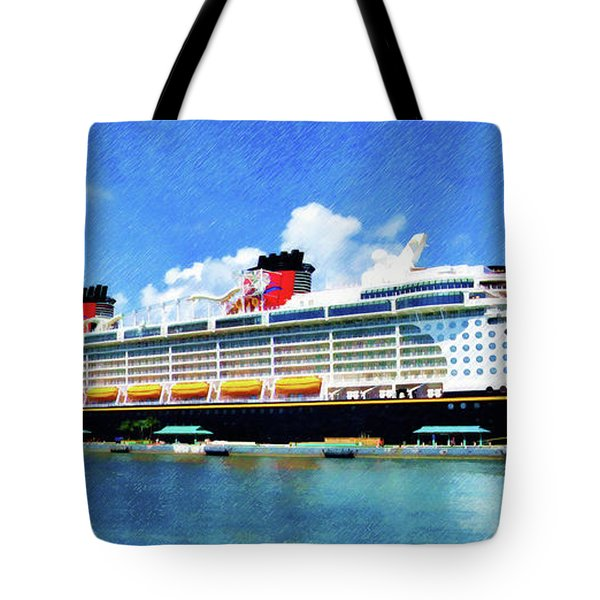 The Disney Dream In Nassau Tote Bag